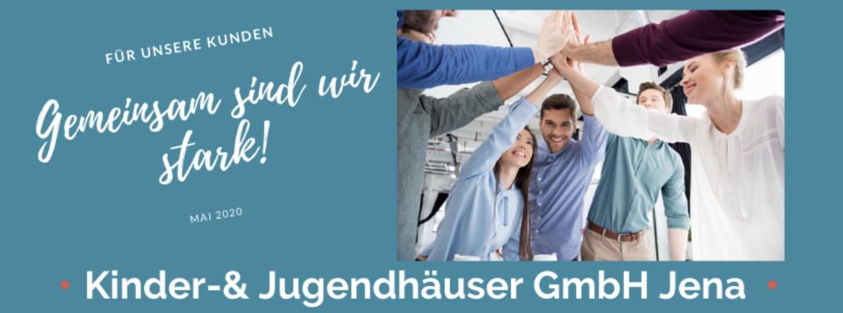 Die Kinder- und Jugendhäuser GmbH Jena, in Zeiten von Corona